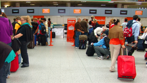 easyJet check-in at London Gatwick Airport